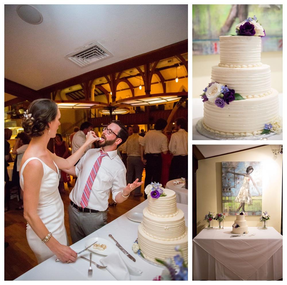 Maine Wedding Photographer cake fresh flowers buttercream