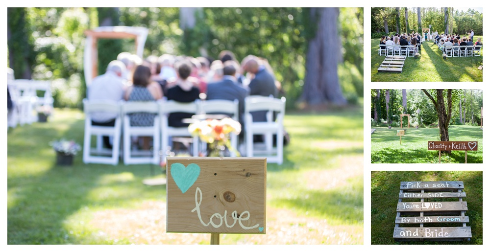 Maine Wedding Photographer Bethel ceremony details shabby chic