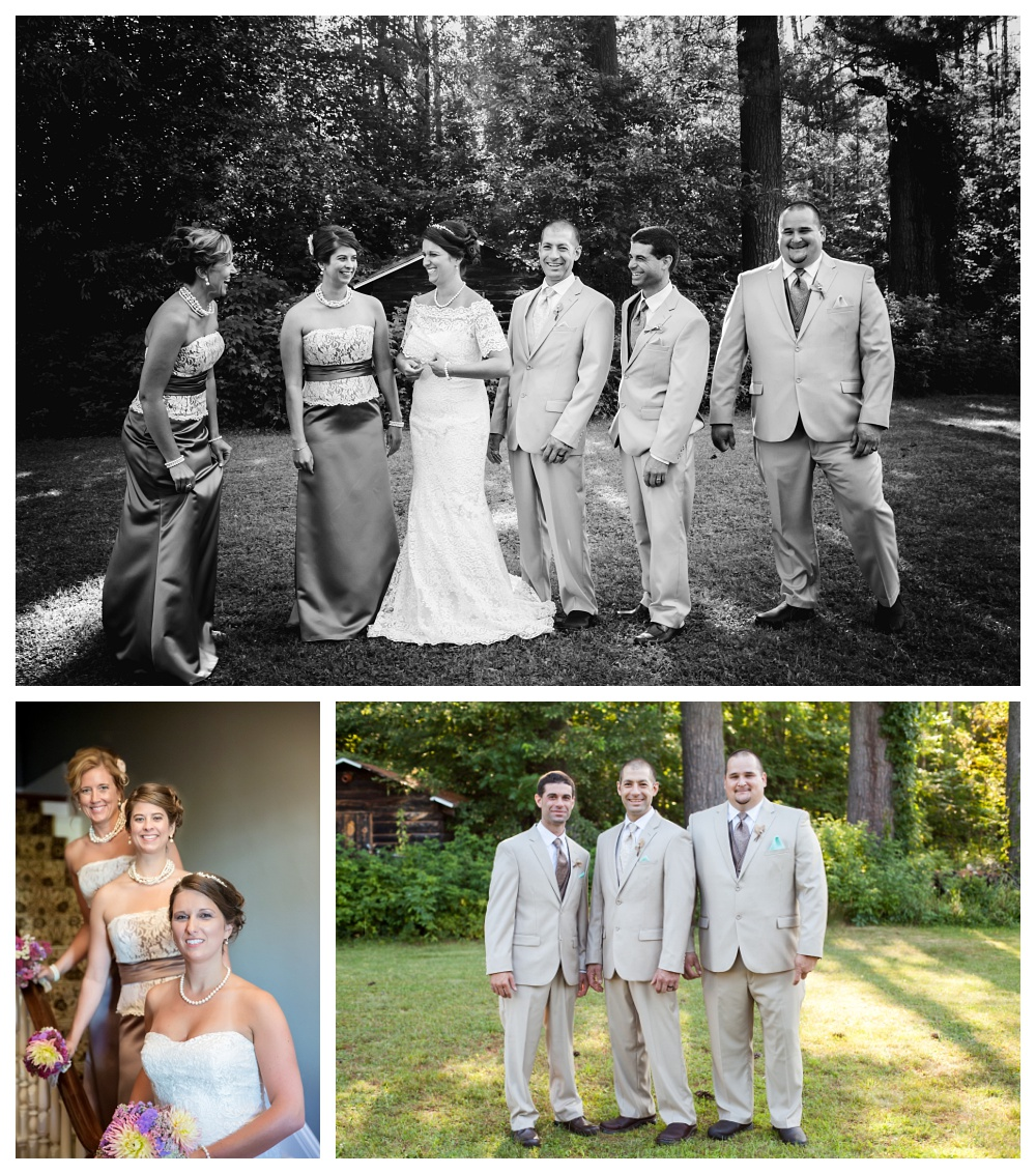 Maine Wedding Photographer bridal party portraits