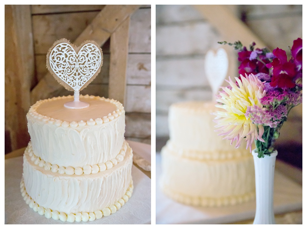 Maine Wedding Photographer Rustic Cake