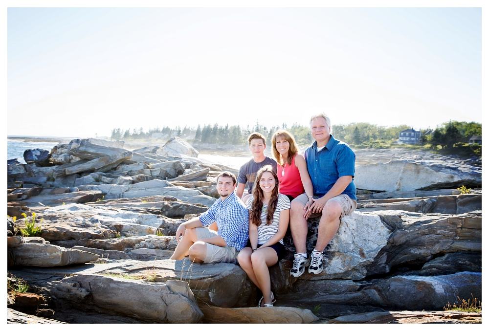 Pemaquid Point Lighthouse Engagement family photo