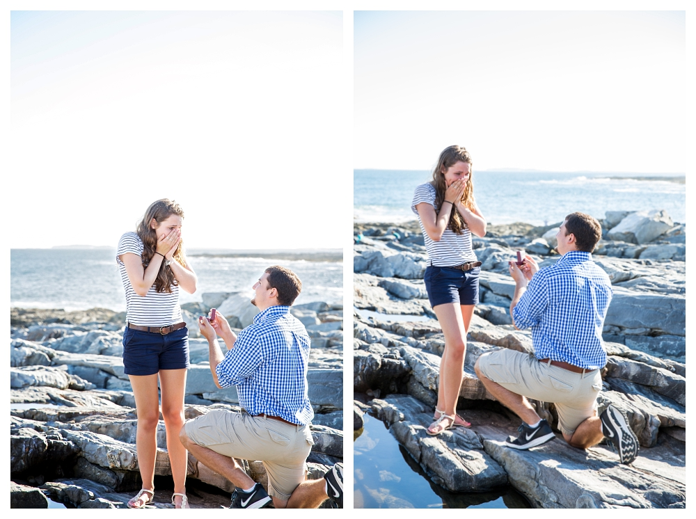 Pemaquid Point Lighthouse proposal down on one knee photo