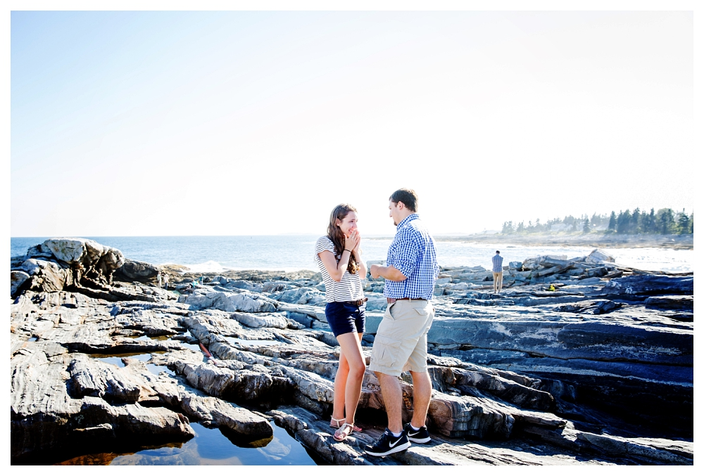 Pemaquid Point Lighthouse Proposal she said yes photo