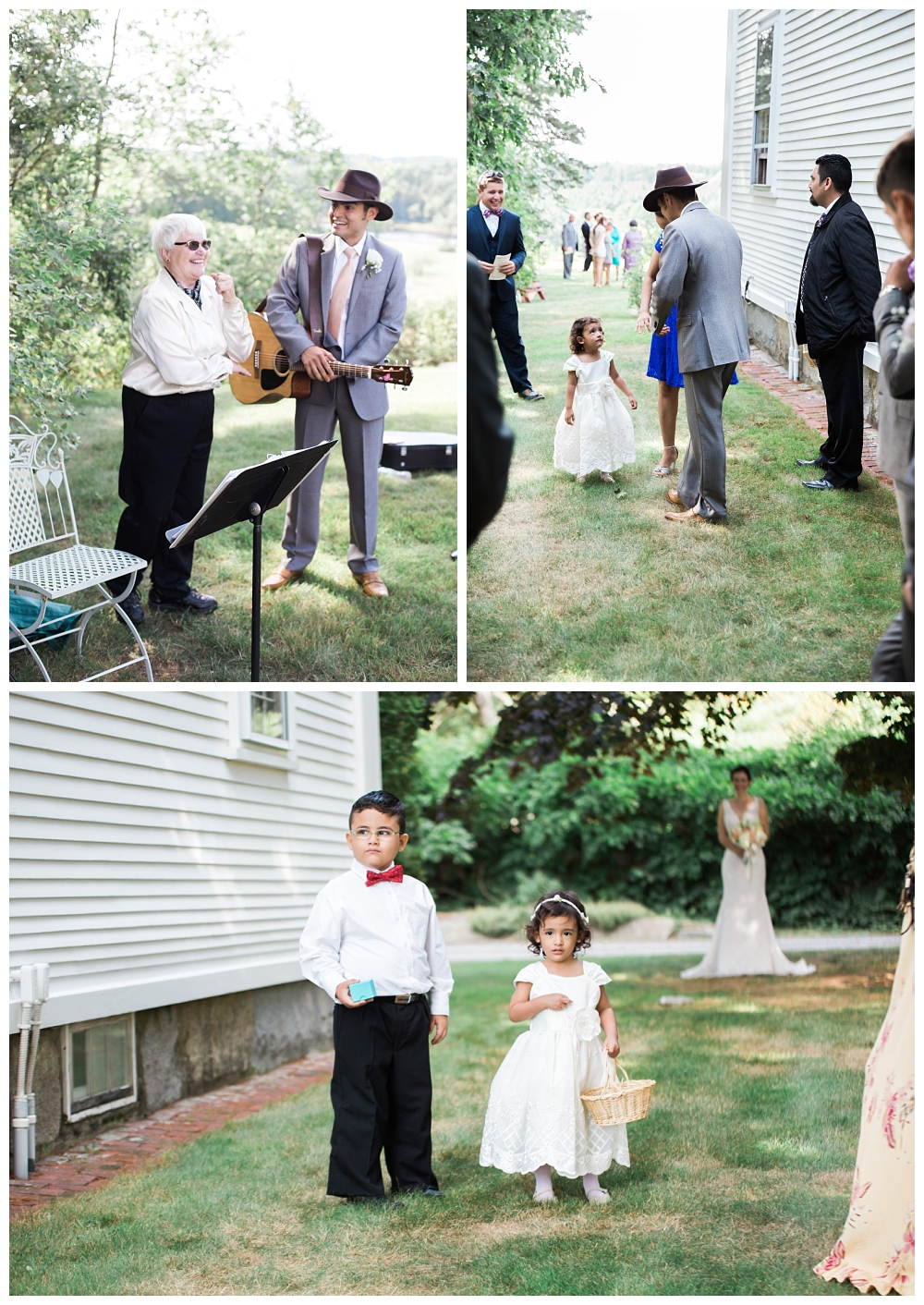 Maine Wedding Photographer Clark's Cove Farm & Inn Ringbearer Flower Girl