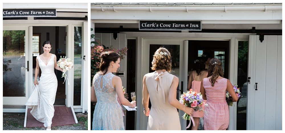 Maine Wedding Photographer Ceremony Walk Clark's Cove Farm & Inn