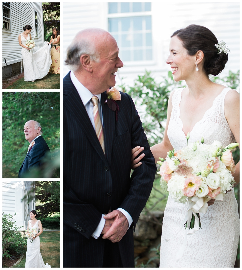Maine Wedding PHotography Clark's Cove Farm Bride and Father of the Bride