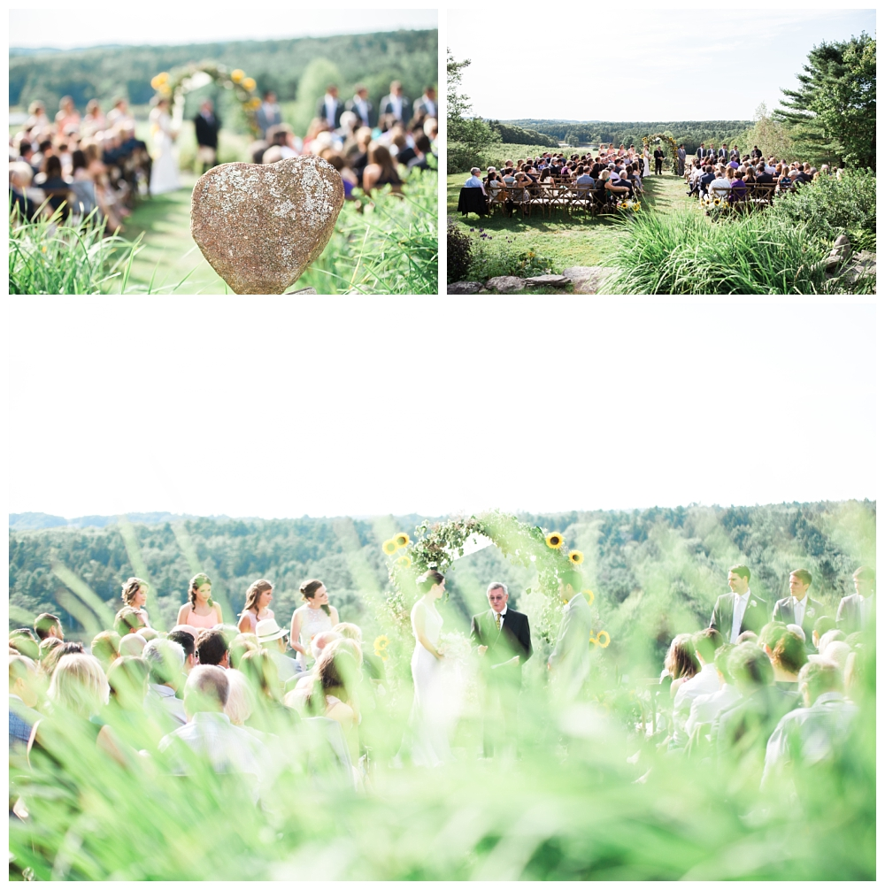 Maine Wedding Photographer Clark's Cove Farm & Inn Ceremony site Venue