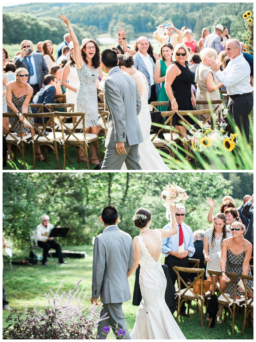 Maine Wedding Photographer Clark's Cove Inn Recessional