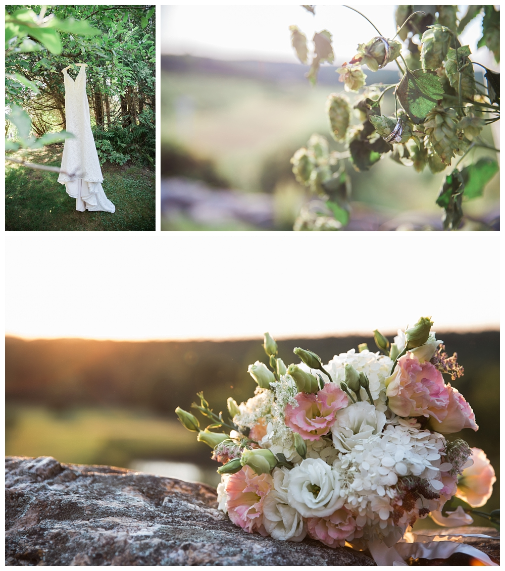 Maine Wedding Photographer Clark's Cove Farm & Inn Details The Dress The Rings