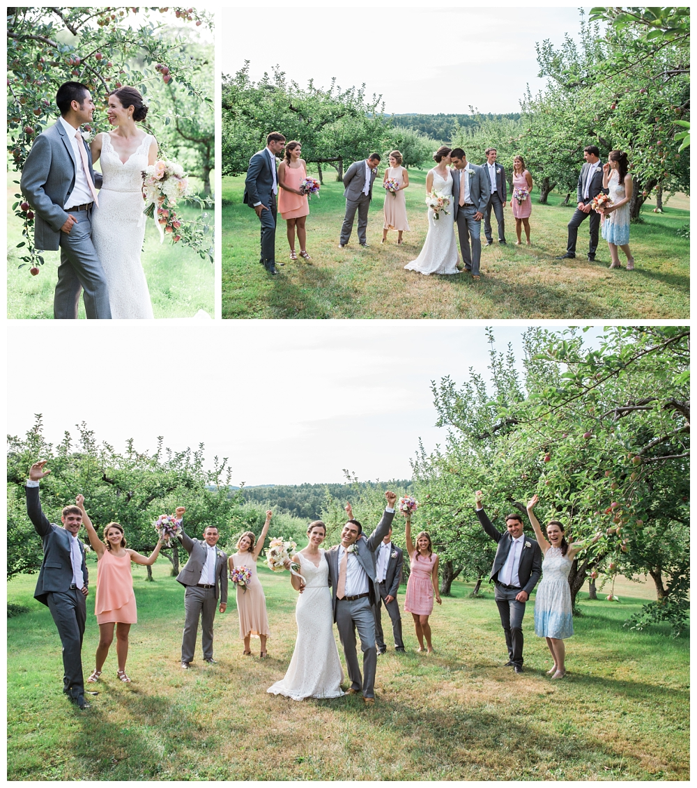 Maine Wedding Photographer Clark's Cove Farm & Inn Bridal Party fun and serious