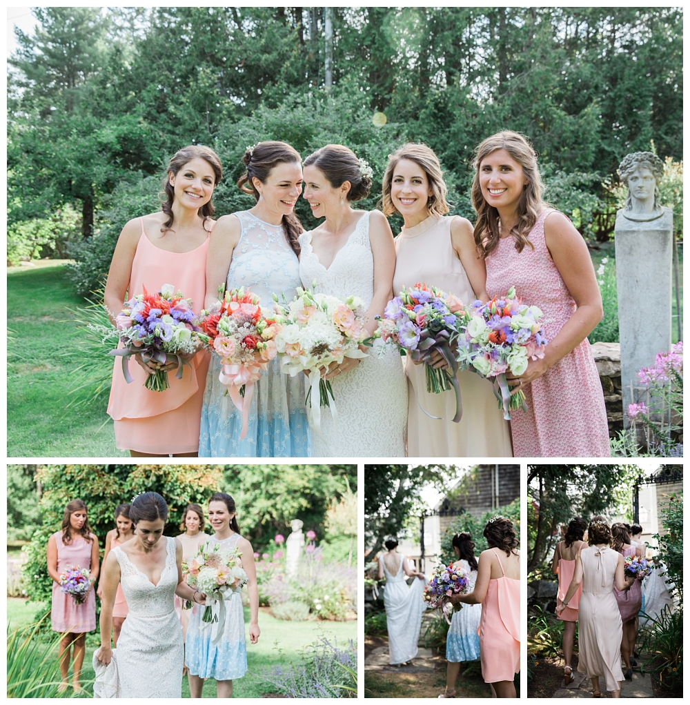 Maine Wedding Photographer Clark's Cove Farm & Inn Bride and bridesmaids