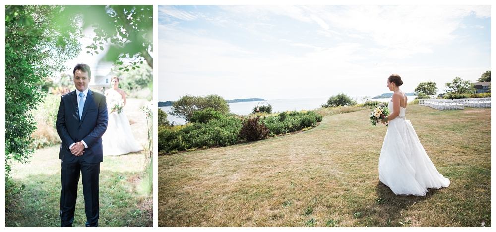 Maine Wedding Photographer First Look Harpswell