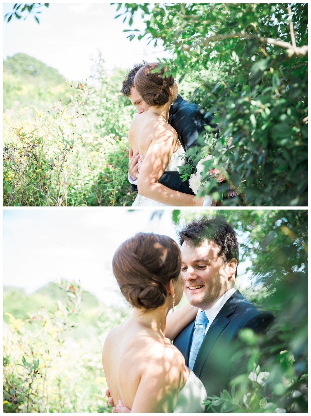 Maine Wedding Photographer First Look Harpswell ME