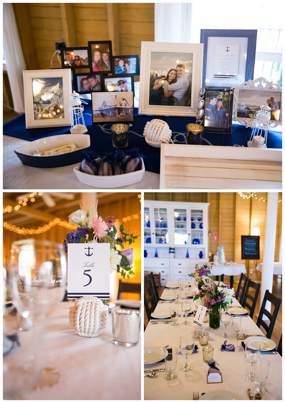 Maine Wedding Photographer Harpswell Tablescapes Nautical Decor