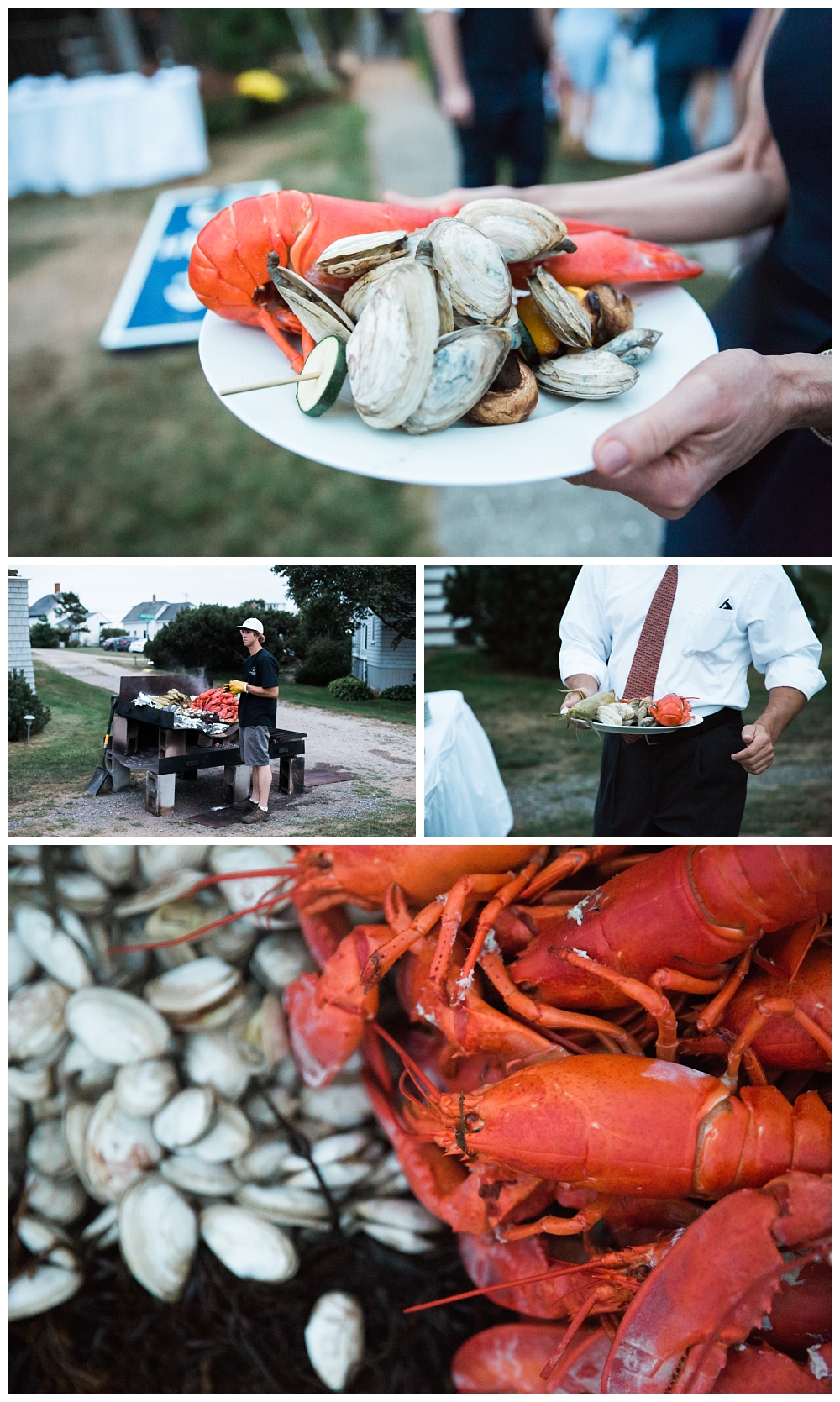 Maine Wedding Photographer Harpswell Lobster Bake