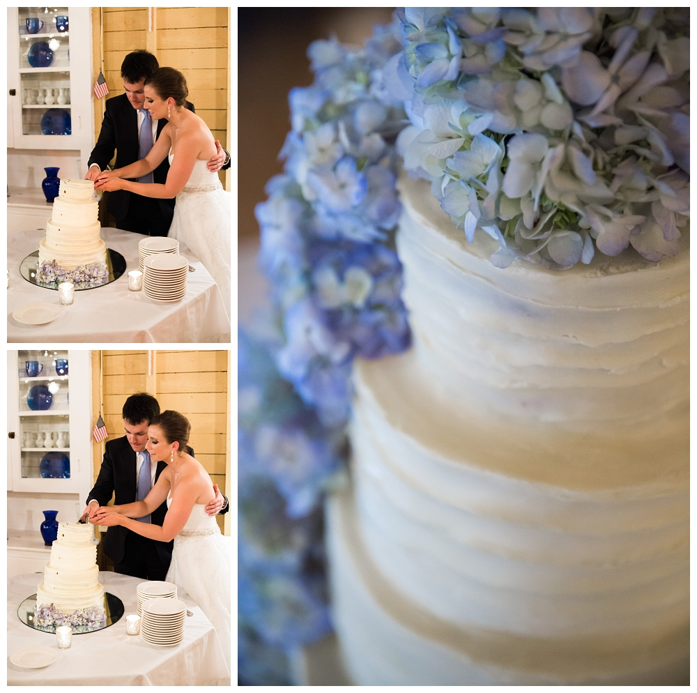 Maine Wedding Photographer Harpswell Cake Cutting