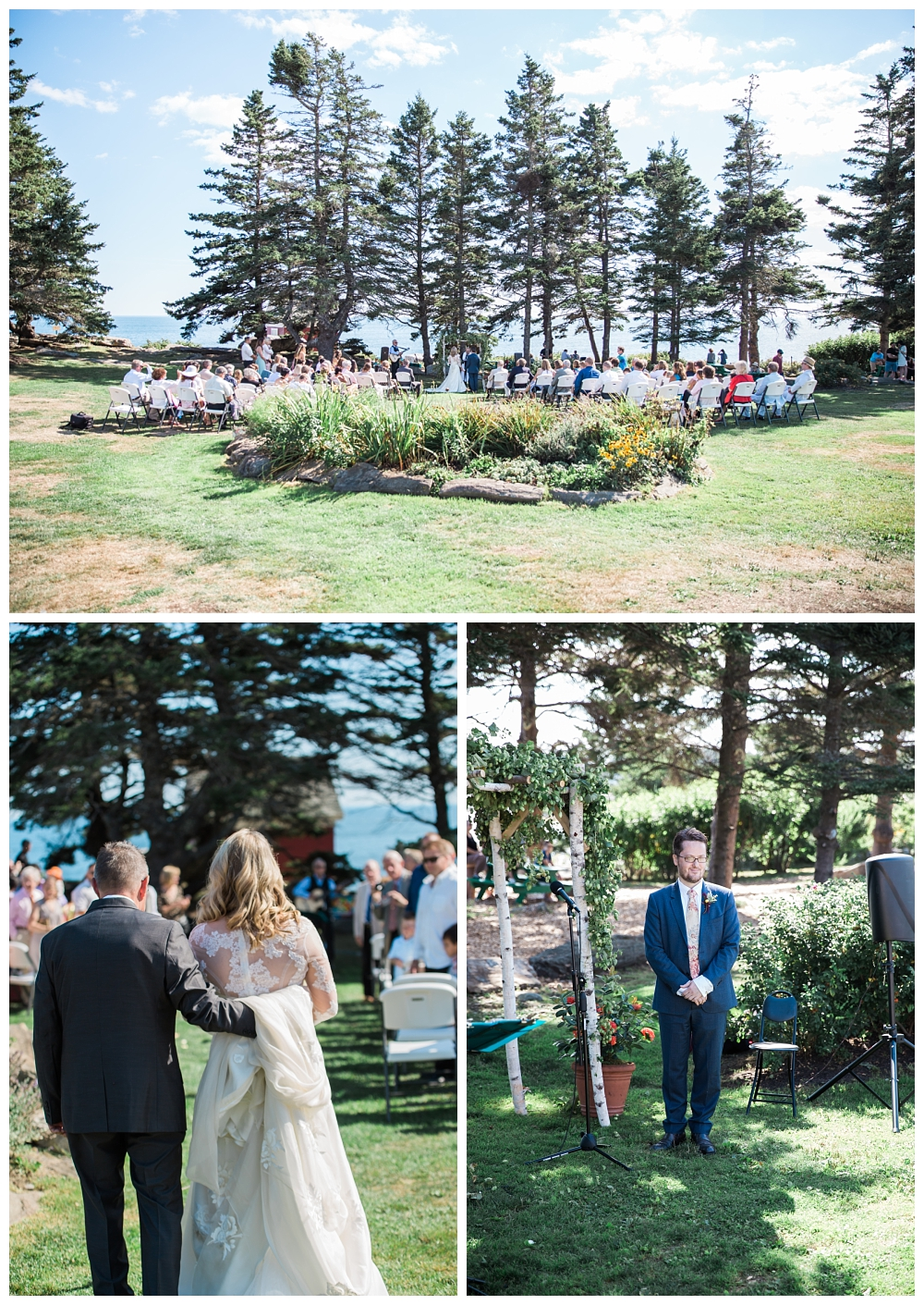 Maine Wedding Photographer Pemaquid Point Lighthouse Ceremony