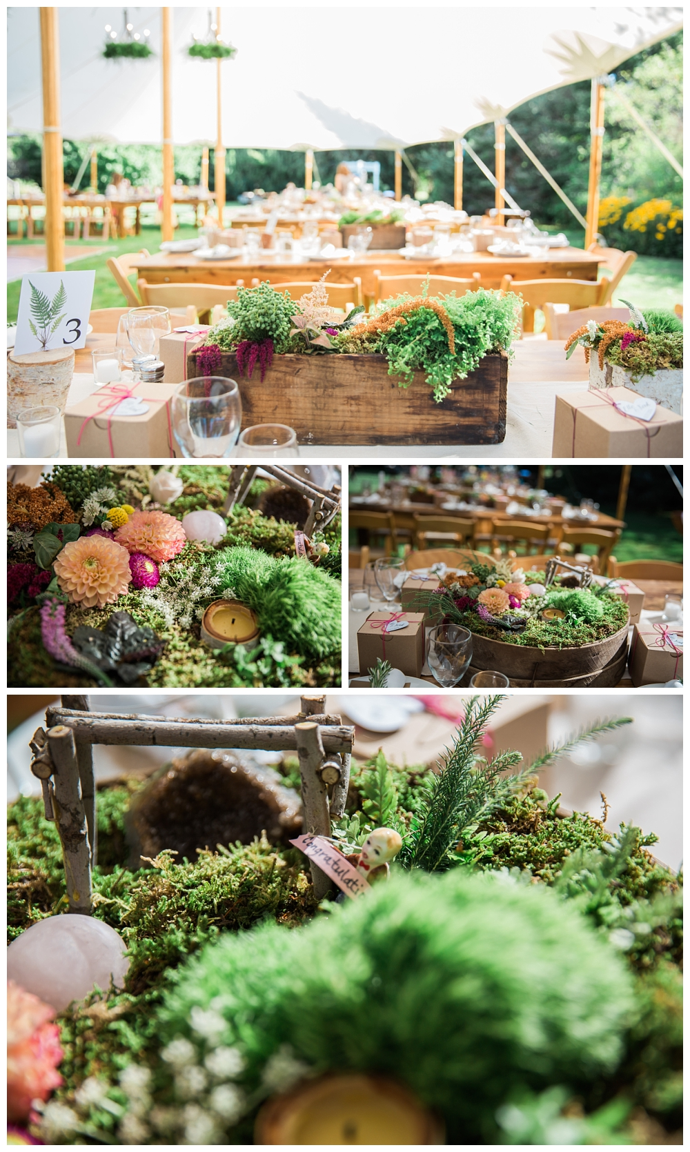 Maine Wedding Photographer The Bradley Inn New Harbor Reception centerpieces