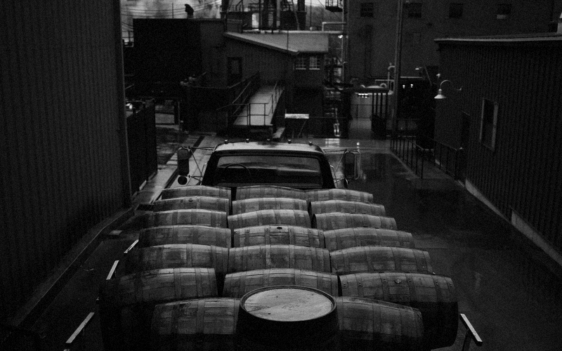 In 2014, Kentucky distillers used groundwater to produce 1,000,000 barrels of bourbon. Lexington-Herald Leader, 2015. Photo of Jim Beam Distillery in Clermont, KY courtesy of Luke Sharrett.