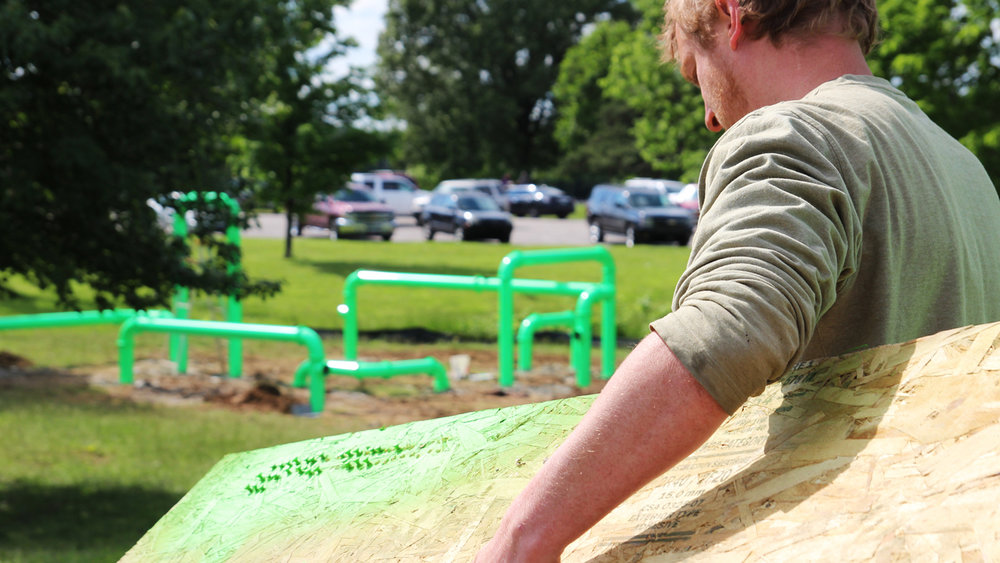 Livestreamin' in Jacobson Park! Stay tuned as the installation unfolds. Or check out the latest photos  here .