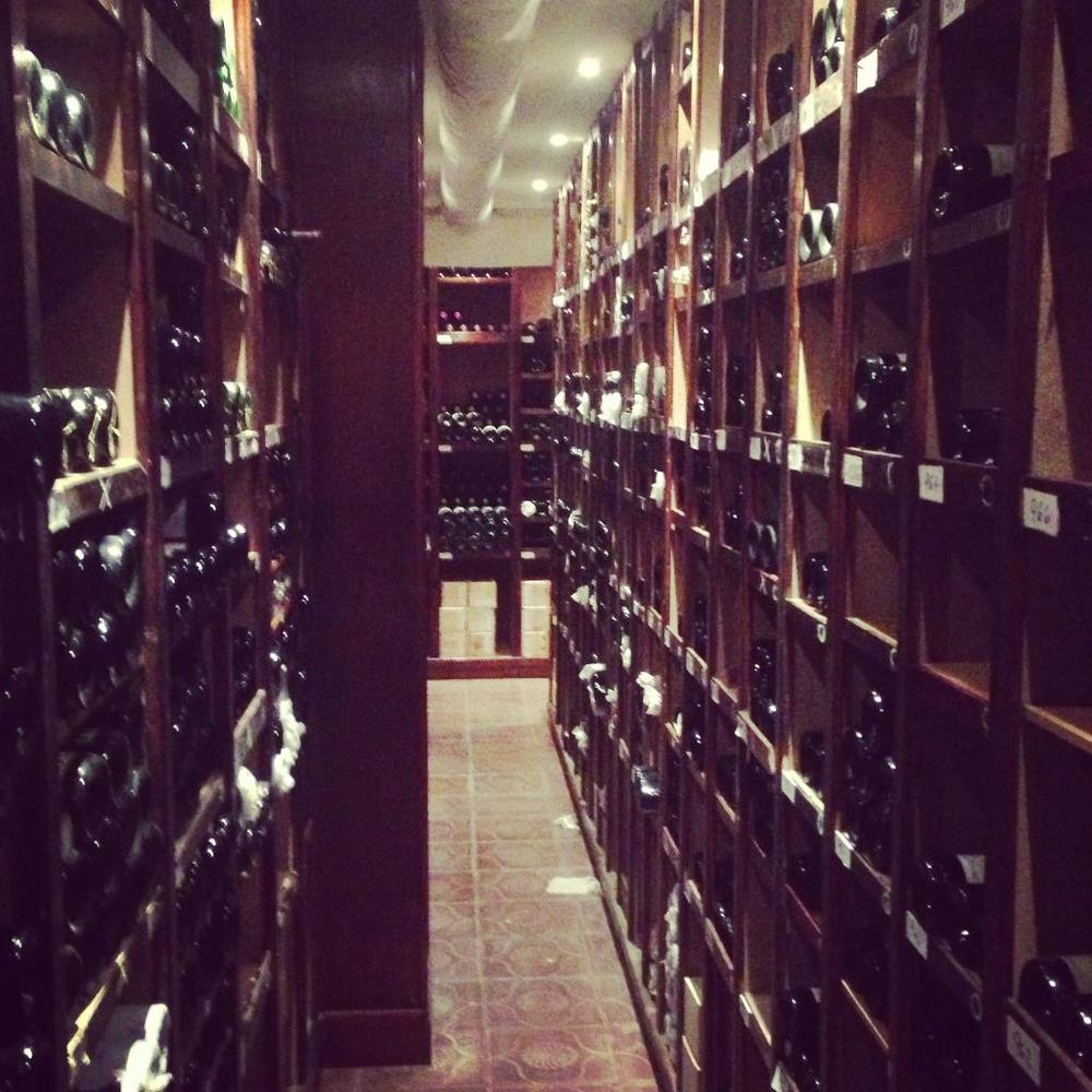 Most impressive wine cellar I've ever seen - 1000+ bottles going back to 1920's...