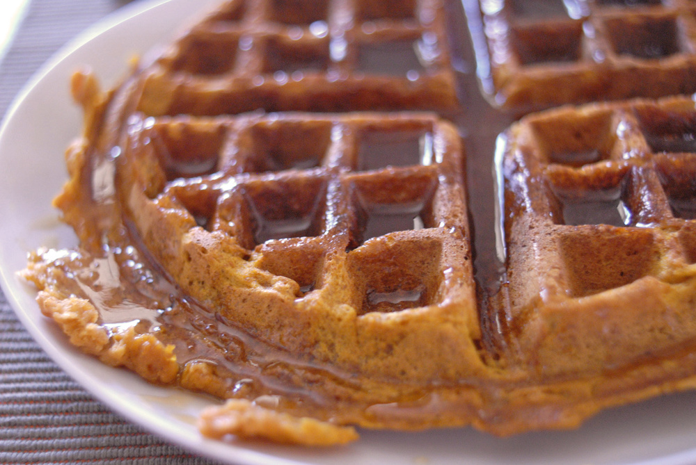 Maple Syrup Waffles Pumpkin waffles with bourbon butter maple syrup ...