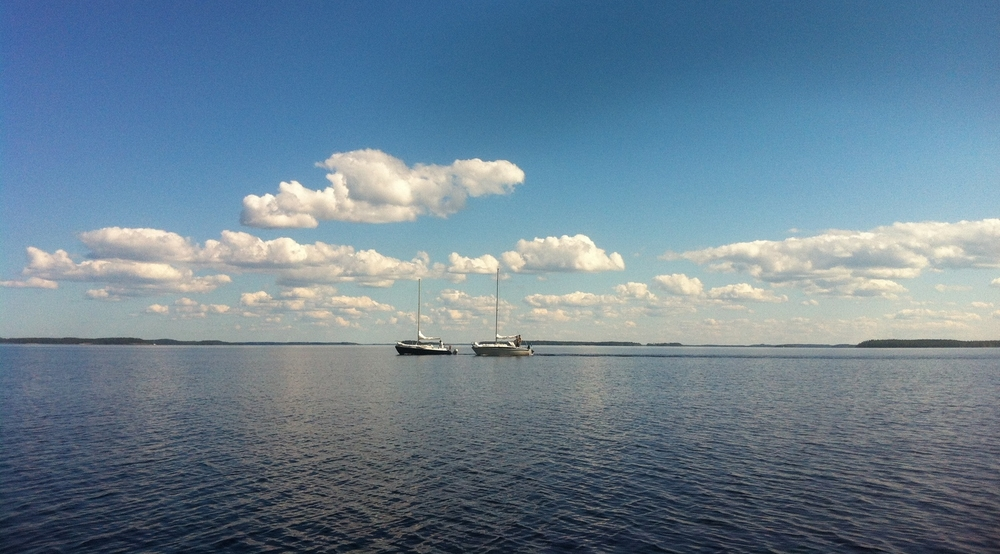 Boats at Lake Saimaa