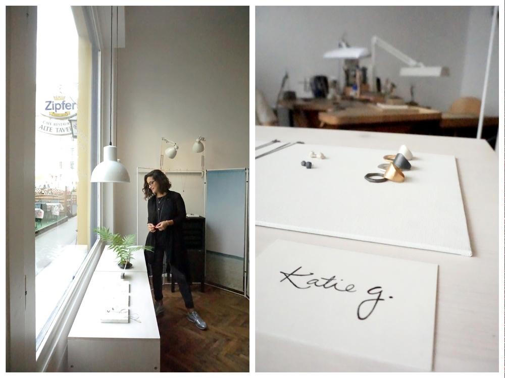 Katie G Jewellery studio visit in Vienna Space Unseen