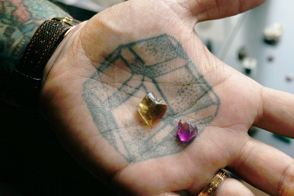 top notch faceting garnet tattoo