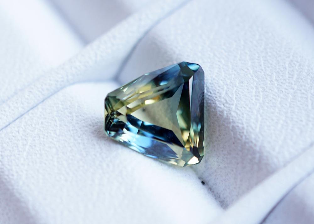 Nigerian Sapphire that Jean Noel had just cut
