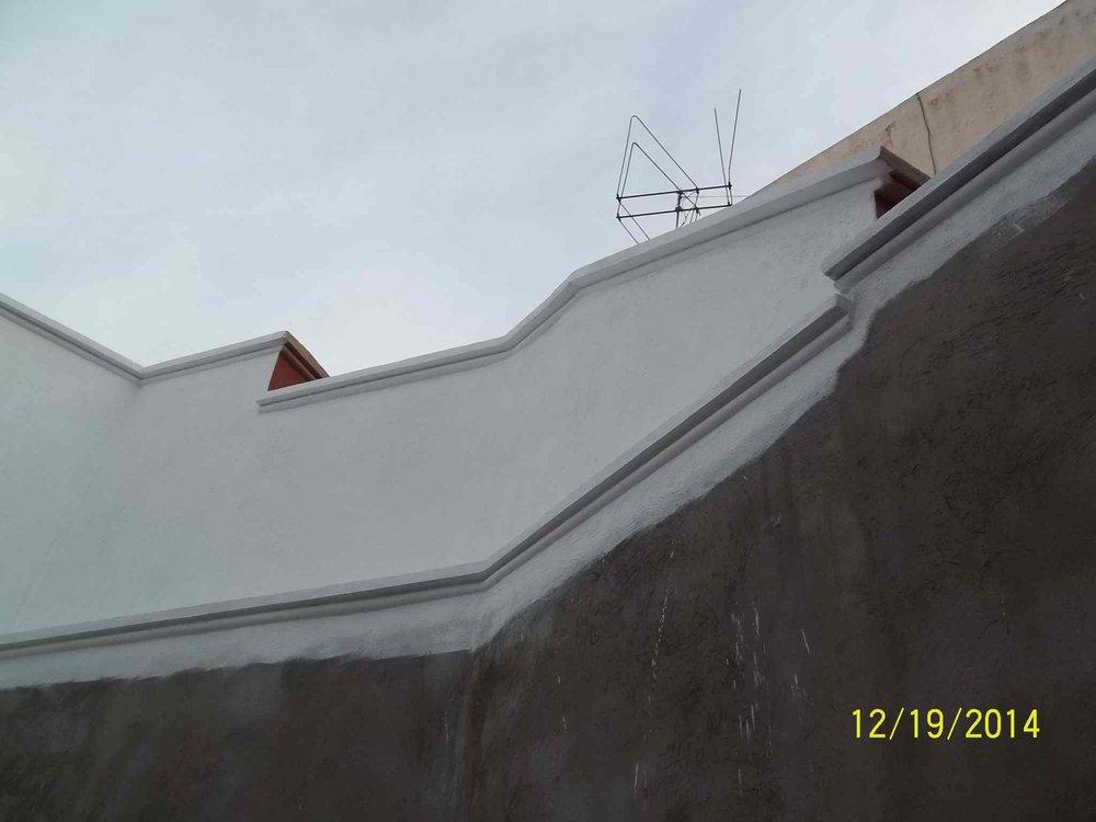 Muro posterior después de implementar el protocolo de restauración de INAH.