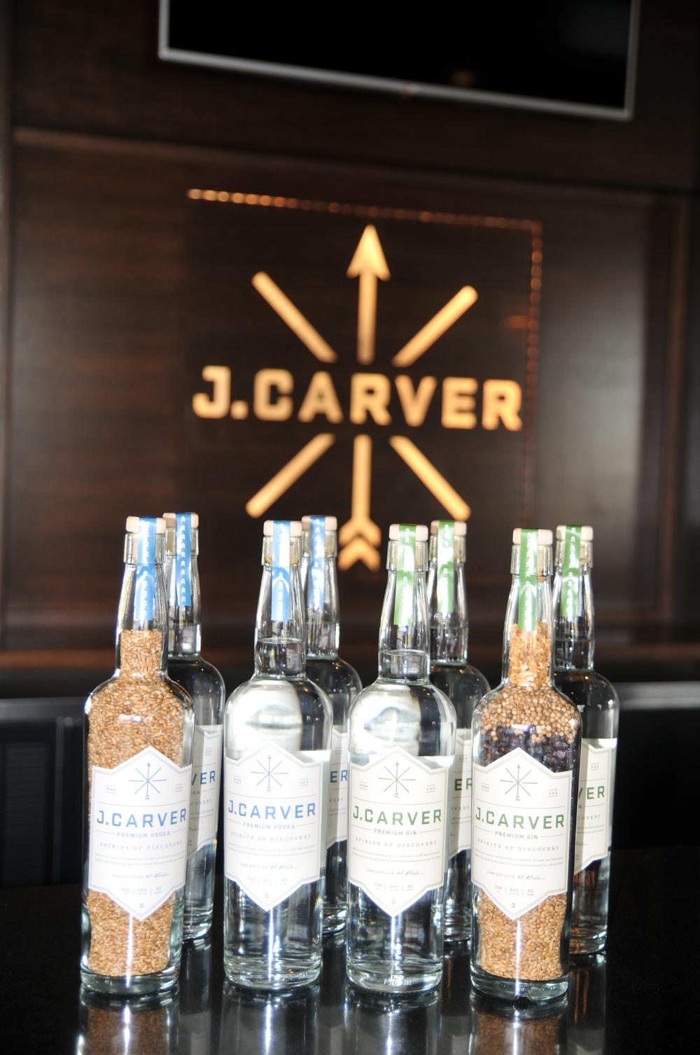 J. Carver Premium Vodka and J. Carver Premium Gin