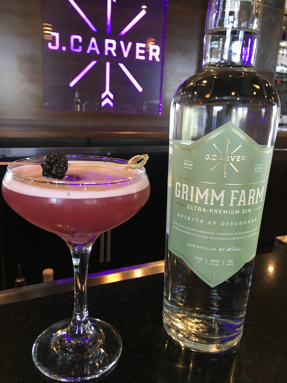 """The Symbol"" honoring #RIPPRINCE made with Grimm Farm Gin"
