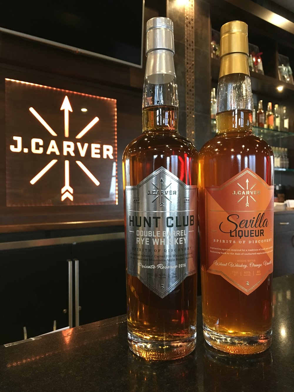 J. Carver Hunt Club Double Barrel Rye and Sevilla Liqueur