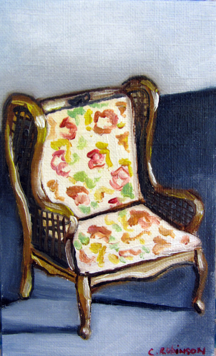 Antique Floral Chair
