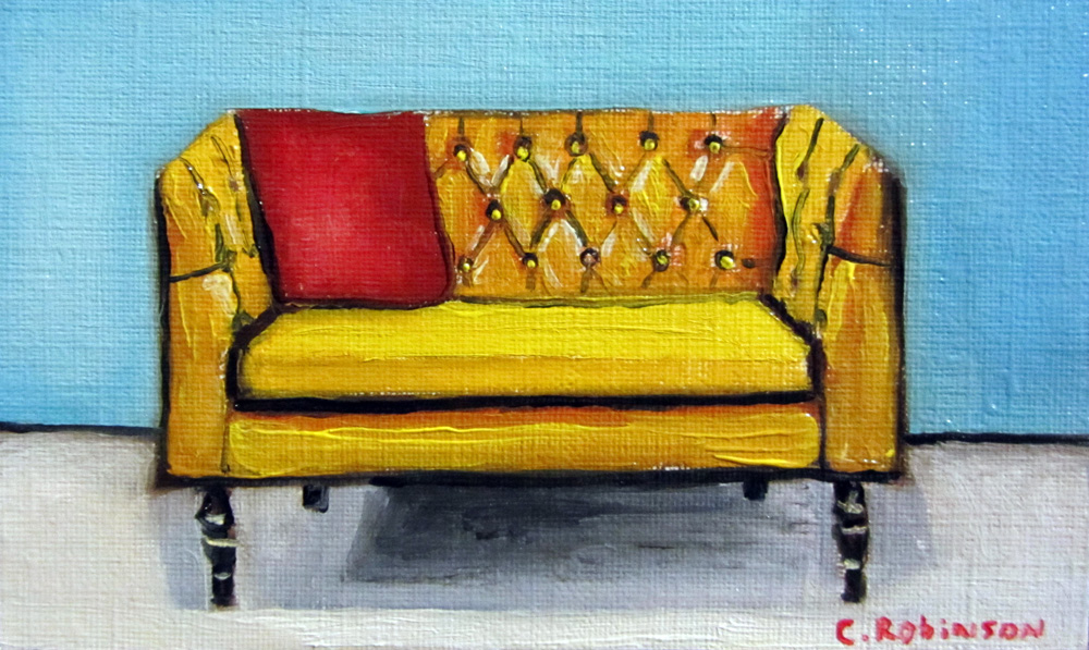 Goldenrod Sofa