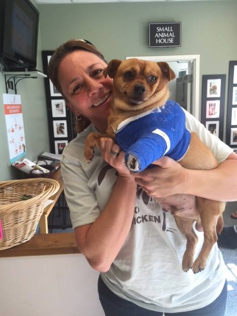 "...and ""Hello!"" to new foster mom, Kim!"