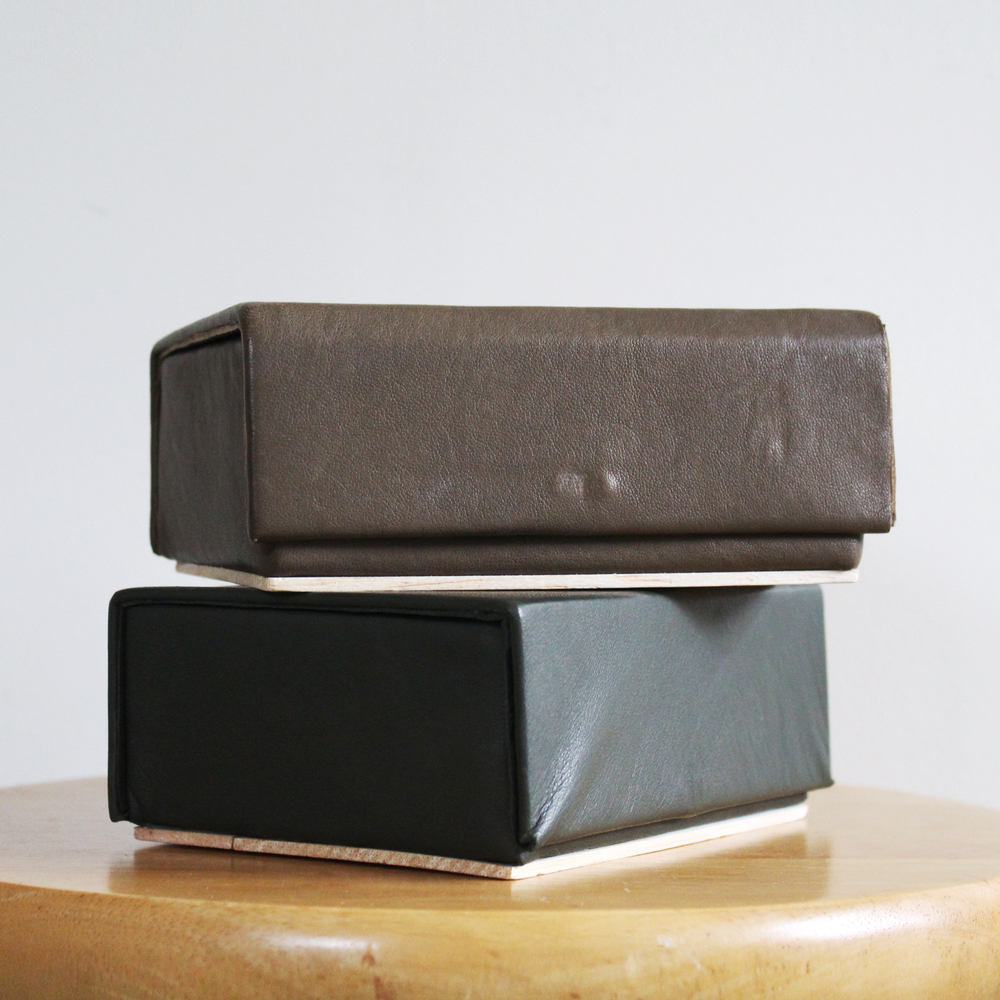 LAMBSKIN-LINED WOOD BOXES