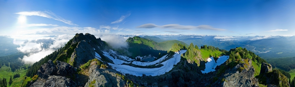 Sauk Mountain Panorama. North Cascades, Washington.