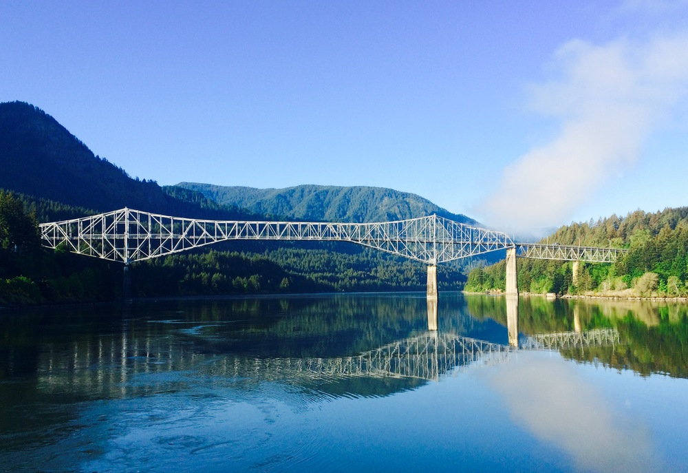 Bridge of the Gods from Marine Park, Cascade Locks