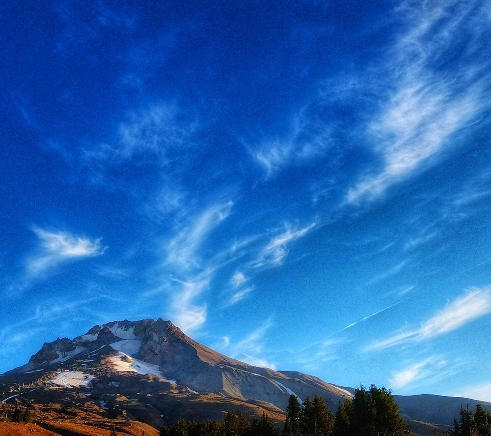 Mount Hood from Timberline meadows. As October approaches - The weather is changing.