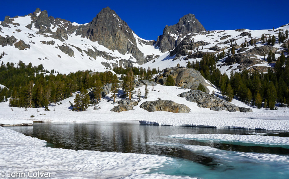 Mount Ritter and Mount Banner, Sierra Nevada. June 2018    Price $500    Available in image sizes up to 38x30""