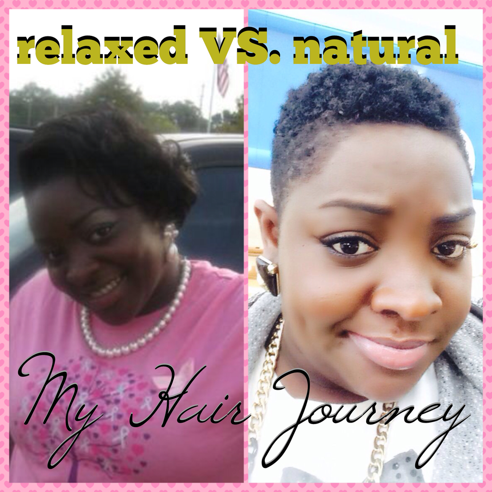 natural vs relaxed African american natural hair vs relaxed i am trying to go natural with my hair and grow out my relaxed hair i havent had a touch up in 5 monthsi wouldnt cut my hair until at least a year or two or transationing so that it can be long and i will feel comfortable.