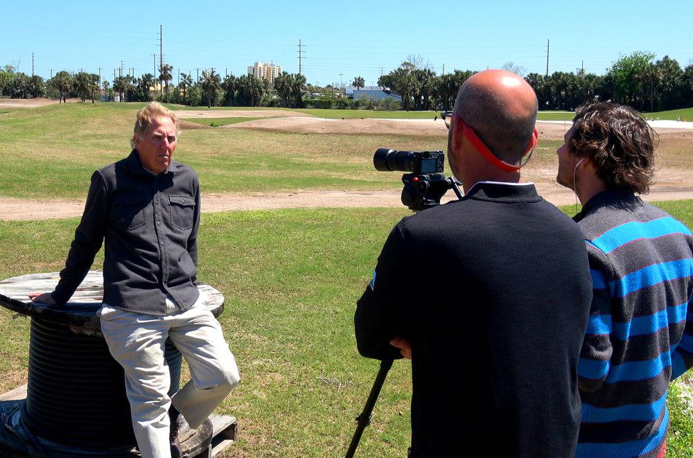 Luke Thorpe and Mason Seay interviewing Harrison Minchew.