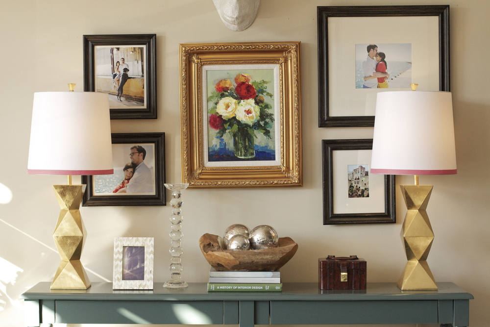 Rebekah's house- This vignette changes often, but at this time it was all about color.
