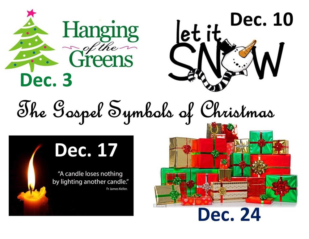 The Gospel Symbols Of Christmas Hanging Of The Greens Holy
