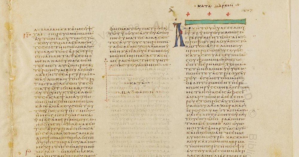 AN ORIGINAL CODEX WITH THE SHORTER AND LONGER ENDINGS OF MARK