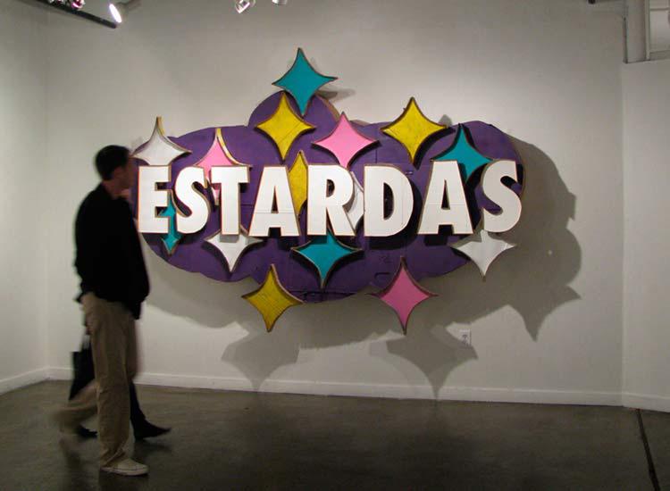 ESTARDAS . 2010. Cardboard, paint, glue. 5'x10x2'  Photo: Thomas Willis