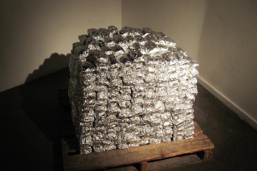 1,095 Tamales . 2010. mixed media. 4.5'x4'x4'  Photo:  Thomas Willis