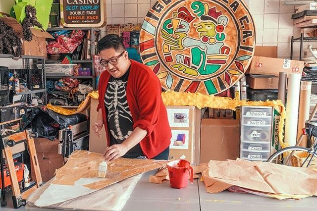 Photo of me in my Vegas studio by @seanteegarden for @craftcouncil magazine. Check out the June/July issue for more photos and an interview by @jawnita! #justinfavela #coolranchdoritos #wip